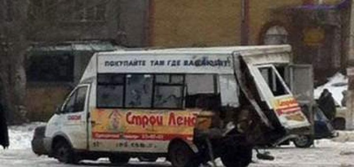 автомобиль «Урал» протаранил маршрутку