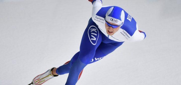 Конькобежец Юсков