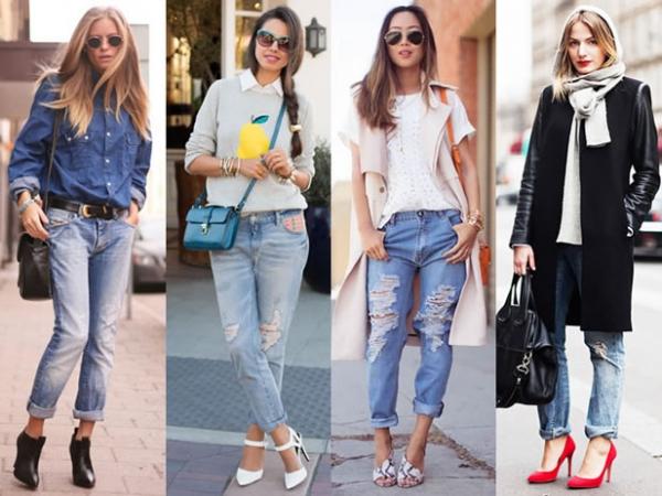 спортивные широкие джинсы