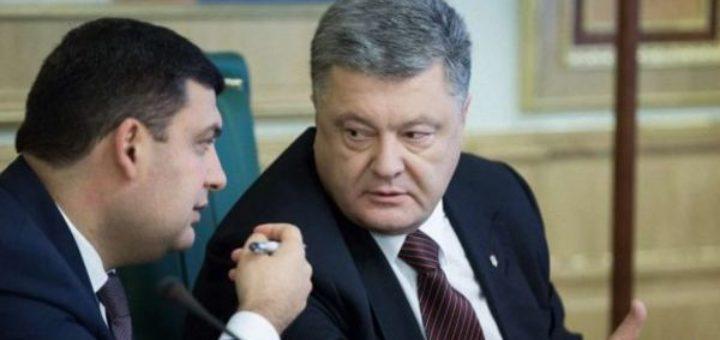 уголовное производство против бывшего президента Украины Петра Порошенко, премьер-министра Владимира Гройсмана