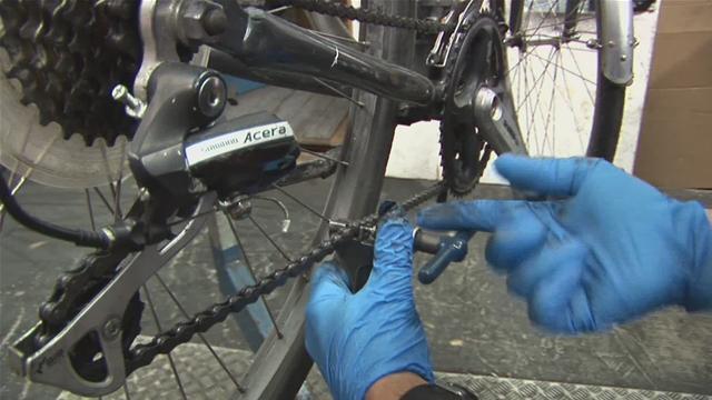 Как поставить цепь на велосипед