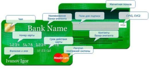Банковская пластиковая карта, привязанная к счету,